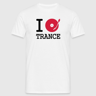I dj / play / listen to trance - T-skjorte for menn