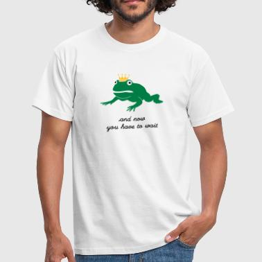 grumpy frog prince - waiting - T-shirt Homme