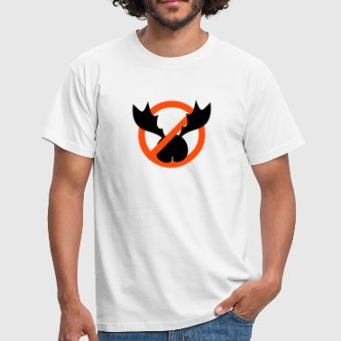 no ass antlers - Herre-T-shirt
