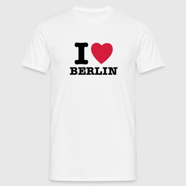 I Love Berlin - I Heart Berlin - T-shirt herr