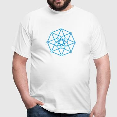 Hypercube 4D - TESSERACT - edge-first-shadow, c, Symbol - Dimensional Shift, Metatrons Cube, Ishtar Star - Camiseta hombre