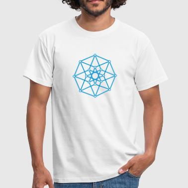 Hypercube 4D - TESSERACT - edge-first-shadow, c, Symbol - Dimensional Shift, Metatrons Cube, Ishtar Star - Herre-T-shirt
