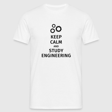 keep calm and study engineering - Men's T-Shirt