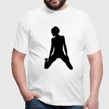 babe on her knees - T-shirt Homme