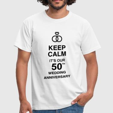 50 - Birthday Wedding - Marriage - Love - Camiseta hombre