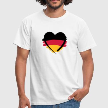 Deutschland Herz | German Heart | Art - Men's T-Shirt