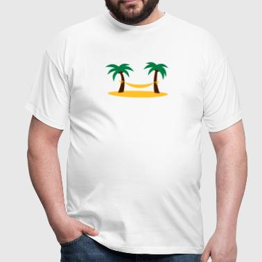 island_palms_and_hammock - Herre-T-shirt