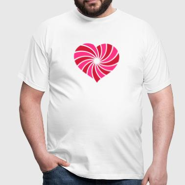 Herz; Muster Herz; Heart - Men's T-Shirt