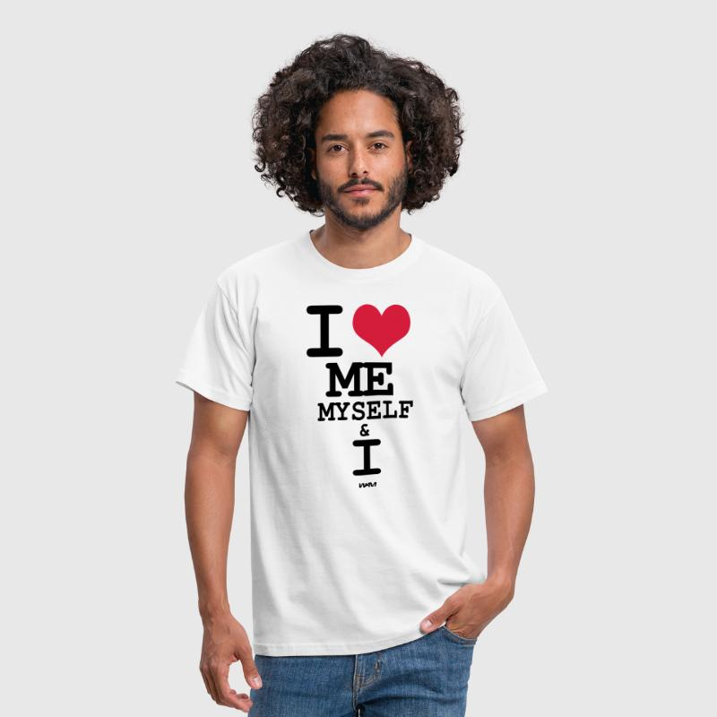 i love me myself and i by wam - Mannen T-shirt