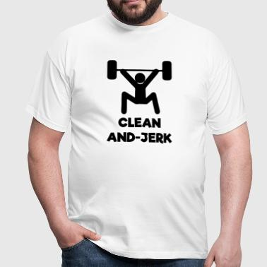 Clean And-Jerk Exercise - Men's T-Shirt