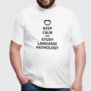 keep calm and study language pathology - Koszulka męska