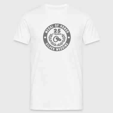 MEDAL OF HONOR 25th SILVER WEDDING - Männer T-Shirt