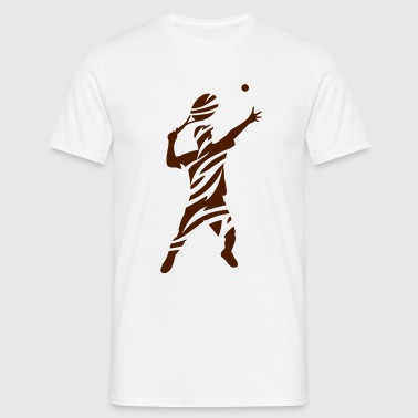 Tennis tribal male de - Männer T-Shirt