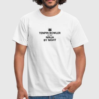 tenpin bowler day ninja by night - Men's T-Shirt