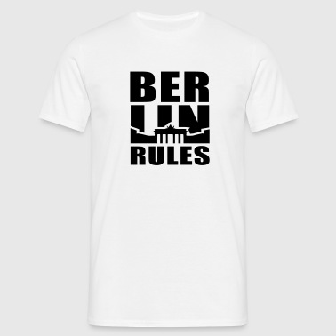 BERLIN RÈGLES Brandenburger Tor UNI - T-shirt Homme