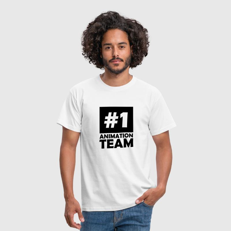 number one animation team - Men's T-Shirt