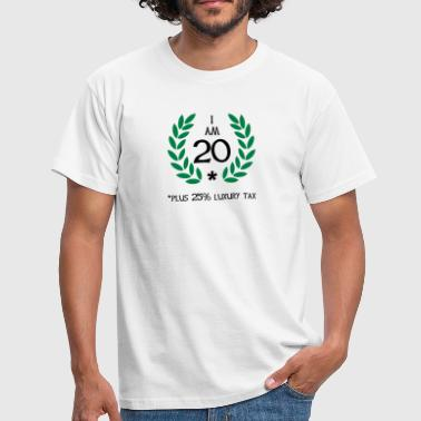 25 - 20 plus tax - T-skjorte for menn