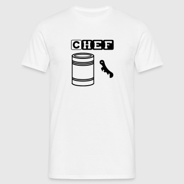 tin can chef - Herre-T-shirt