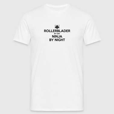 rollerblader day ninja by night - Men's T-Shirt