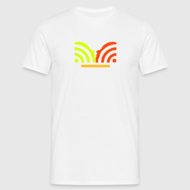 get in touch with social media + username - Mannen T-shirt