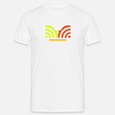 Flirt get in touch with social media + username - Men's T-Shirt