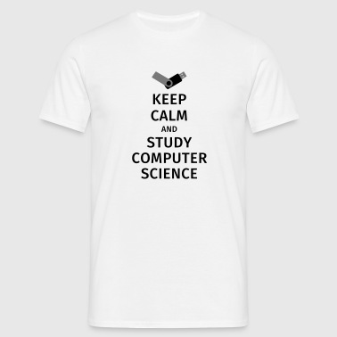 keep calm and study computer science - Herre-T-shirt
