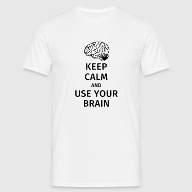 keep calm and use your brain - Herre-T-shirt