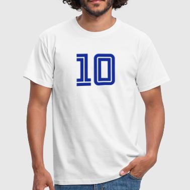 College Numbers, Nummern, Sports Numbers, 10 - Mannen T-shirt