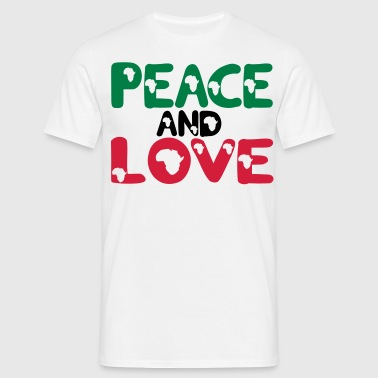 peace and love afrique 3 colors - T-shirt Homme