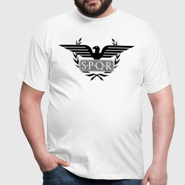 Laurel wreath eagle Aquila SPQR Rome  - Men's T-Shirt