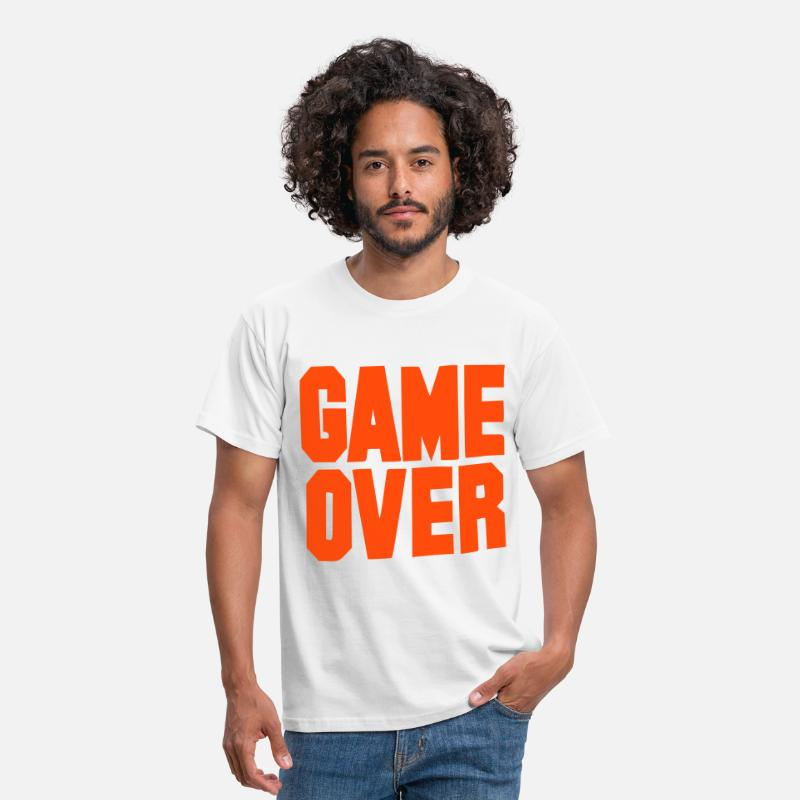 Soltero Camisetas - Game over - Despedida de soltero - Camiseta hombre blanco