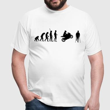 Evolution motorcycle accident  - Men's T-Shirt