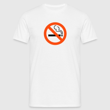 No Smoking - T-skjorte for menn