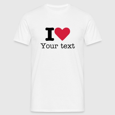 I love - Mannen T-shirt