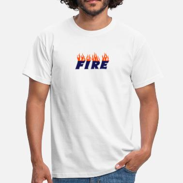 Desire Sayings Comment fire - Men's T-Shirt