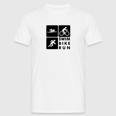 Swim Bike Run Triathlon - Men's T-Shirt