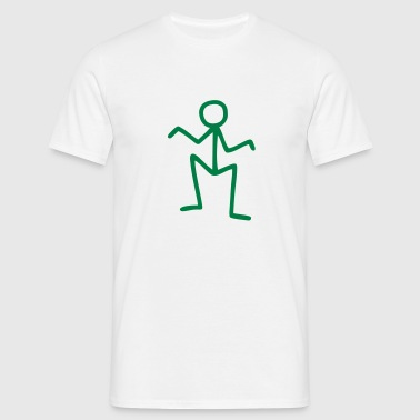 Stick figure - funny - Men's T-Shirt