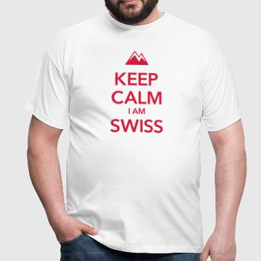 KEEP CALM I AM SWISS - Maglietta da uomo