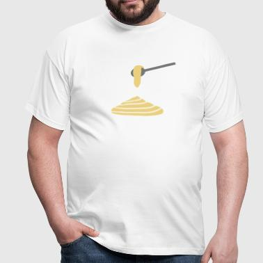 Spoon with mashed potatoes - V2 - Men's T-Shirt