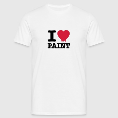i love paint - Men's T-Shirt
