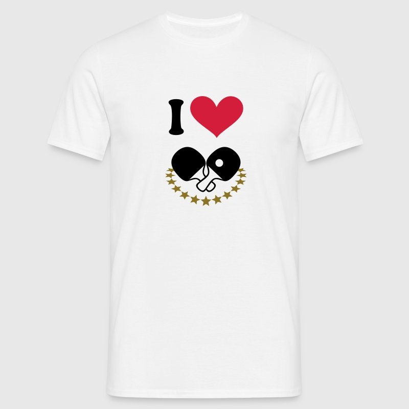 I love you my boyfriend girlfriend heart dad mum - Men's T-Shirt