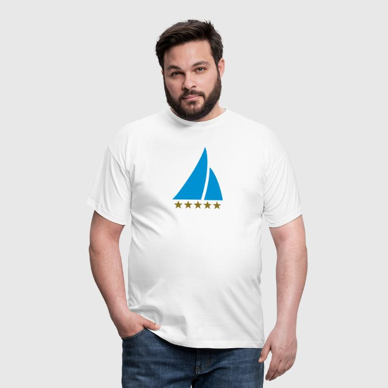 Sailing Five Star, Sailor, Boat, Surfing, Sea, - Men's T-Shirt