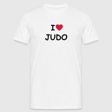 I love/heart Judo - Männer T-Shirt