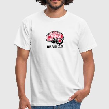 brain 2.0 - T-shirt herr
