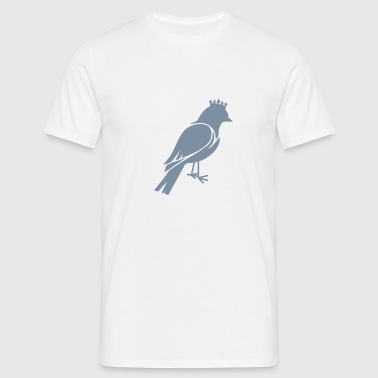 Bird silhouette with crown - Men's T-Shirt