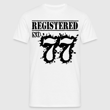 Registered No 77 - 39th Birthday - Men's T-Shirt