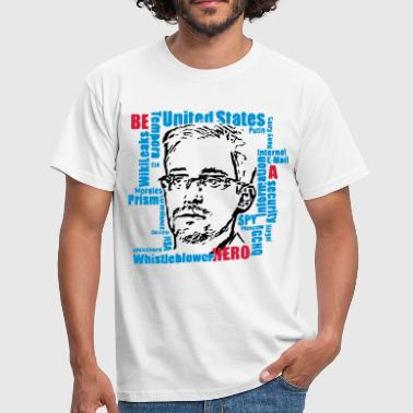 Snowden-Be a Hero - Männer T-Shirt
