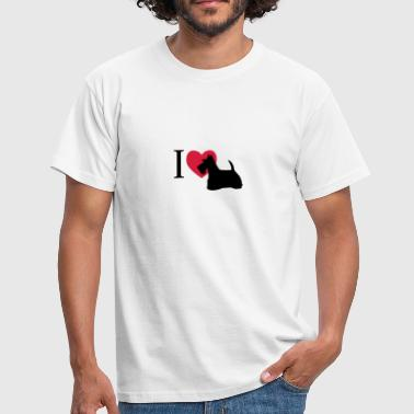 I love Scotch Terrier - Männer T-Shirt