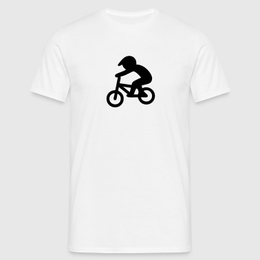 BMX Bike Rider Stickfigure - Men's T-Shirt