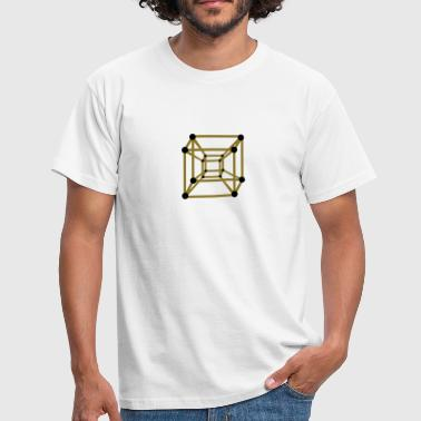 Hypercube 4D - TESSERACT , digital, Symbol - Dimensional Shift, Metatrons Cube,  - Herre-T-shirt